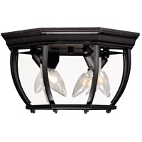 Savoy House Exterior Collections 3 Light Outdoor Flush Mount in Black 07039-BK
