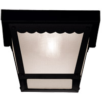 Exterior 1 Light 8 inch Black Flush Mount Ceiling Light