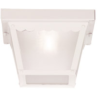 Savoy House Signature 1 Light Outdoor Flush Mount in White 07044-WHT