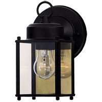 Signature 1 Light 6 inch Black Outdoor Wall Lantern