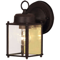 Exterior 1 Light 7 inch Rust Outdoor Wall Lantern