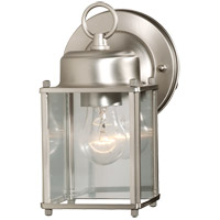 Exterior 1 Light 6 inch Satin Nickel Outdoor Wall Lantern