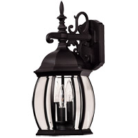 Savoy House Exterior Collections 3 Light Outdoor Wall Lantern in Black 07071-BLK