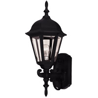 Savoy House Exterior Collections 1 Light Outdoor Wall Lantern in Black 07076-BLK photo thumbnail