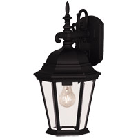 Savoy House Exterior Collections 1 Light Outdoor Wall Lantern in Black 07077-BLK