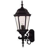 Savoy House Exterior Collections 1 Light Outdoor Wall Lantern in Black 07078-BLK photo thumbnail