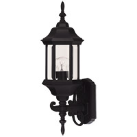 Savoy House Exterior Collections 1 Light Outdoor Wall Lantern in Black 07080-BLK photo thumbnail
