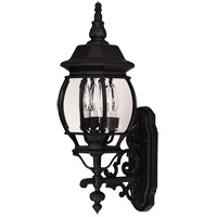 Savoy House Exterior Collections 3 Light Outdoor Wall Lantern in Black 07093-BLK