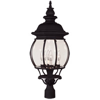 Savoy House Exterior Collections 4 Light Outdoor Post Lantern in Black 07097-BLK