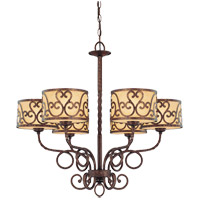 Savoy House San Simeon 6 Light Chandelier in New Tortoise Shell 1-011-6-56