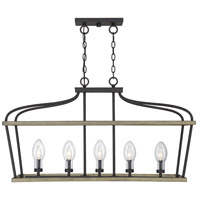 Danbury 5 Light 14 inch Weathervane Garden Chandelier