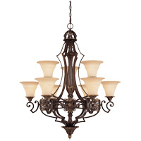 Savoy House Southerby 9 Light Chandelier in Florencian Bronze 1-0151-9-76