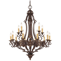 Savoy House Southerby 15 Light Chandelier in Florencian Bronze 1-0153-15-76 photo thumbnail