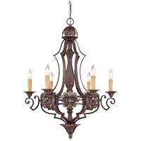 Savoy House Southerby 6 Light Chandelier in Florencian Bronze 1-0161-6-76
