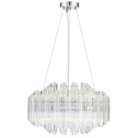 Marquette LED 20 inch Polished Chrome Chandelier Ceiling Light