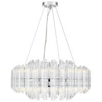 Marquette LED 25 inch Polished Chrome Chandelier Ceiling Light