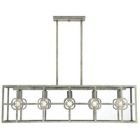 Savoy House 1-0401-5-140 Dalton 5 Light 40 inch Misty Sky Trestle Ceiling Light