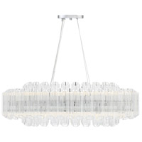 Marquette LED 38 inch Polished Chrome Chandelier Ceiling Light