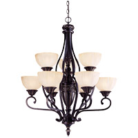 Savoy House Bedford 9 Light Chandelier in Distressed Bronze 1-042-9-59