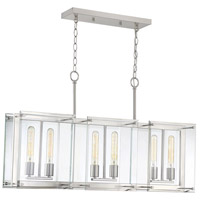 Savoy House 1-0602-6-SN Prescott 6 Light 36 inch Satin Nickel Linear Chandelier Ceiling Light