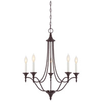 Herndon 5 Light 21 inch English Bronze Chandelier Ceiling Light