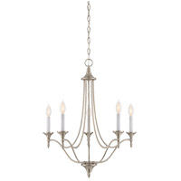 Herndon 5 Light 21 inch Satin Nickel Chandelier Ceiling Light