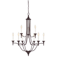 Herndon 9 Light 27 inch English Bronze Chandelier Ceiling Light