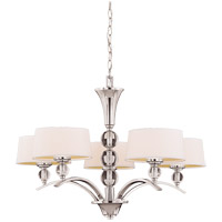 Murren 5 Light 30 inch Polished Nickel Chandelier Ceiling Light