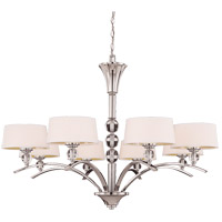 Savoy House Murren 8 Light Chandelier in Polished Nickel 1-1036-8-109