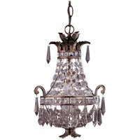 Signature 1 Light 10 inch New Tortoise Shell Mini Chandelier Ceiling Light