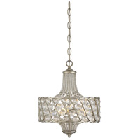 Signature 3 Light 13 inch Silver Lace Mini Chandelier Ceiling Light