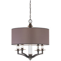 Savoy House Modern Royal 5 Light Chandelier in Distressed Bronze 1-1070-5-59