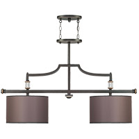 Savoy House Moderne Royal 2 Light Island Light in Distressed Bronze 1-1071-2-59 photo thumbnail