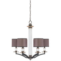 Savoy House Moderne Royal 6 Light Chandelier in Distressed Bronze 1-1074-6-59