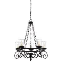 Savoy House 1-1121-5-BK Welch 5 Light 27 inch Black Outdoor Chandelier