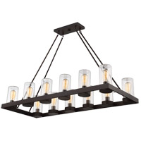 Inman 12 Light 19 inch English Bronze Outdoor Chandelier