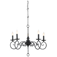 Winbrook 5 Light 30 inch Aged Iron Chandelier Ceiling Light