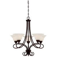 Oxford 5 Light 28 inch English Bronze Chandelier Ceiling Light in Cream Faux Alabaster