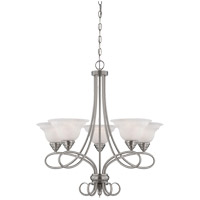 Polar 5 Light 28 inch Pewter Chandelier Ceiling Light
