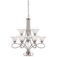Polar 9 Light 32 inch Pewter Chandelier Ceiling Light
