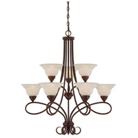 Savoy House Bryce 9 Light Chandelier in Sunset Bronze 1-121-9-91