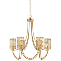Savoy House Fairview 6 Light Chandelier in Rubbed Brass 1-1280-6-325