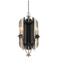 Amiena 6 Light 19 inch Aged Iron with Soft Copper Accents Chandelier Ceiling Light