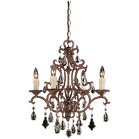 Savoy House Florence 4 Light Chandelier in New Tortoise Shell 1-1400-4-56