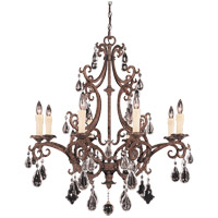 Savoy House Florence 8 Light Chandelier in New Tortoise Shell 1-1401-8-56