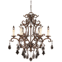 Savoy House 1-1402-6-56 Florence 6 Light 28 inch New Tortoise Shell Chandelier Ceiling Light
