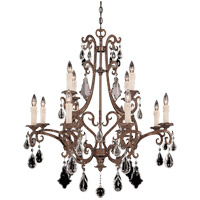 Florence 12 Light 33 inch New Tortoise Shell Chandelier Ceiling Light