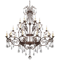 Savoy House 1-1407-24-56 Florence 24 Light 65 inch New Tortoise Shell Chandelier Ceiling Light