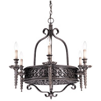 Savoy House Tuscan Iron 6 Light Chandelier in Rustic Bronze 1-1532-6-72 photo thumbnail