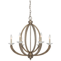 Forum 6 Light 27 inch Gold Dust Chandelier Ceiling Light